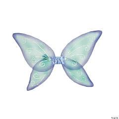 Kid's Blue & Green Fairy Wings