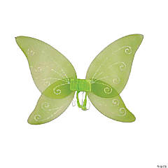 Kid's Green Fairytale Wings