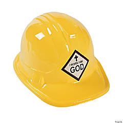 Kid's I Work For God Construction Hats