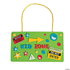 Kid Zone Door Sign Craft Kit