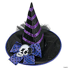 Kids' Black & Purple Witch Hat