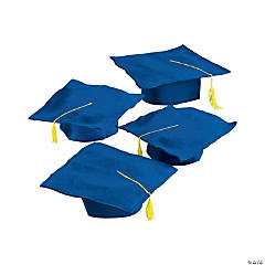 Kids' Blue Graduation Felt Mortarboard Hats