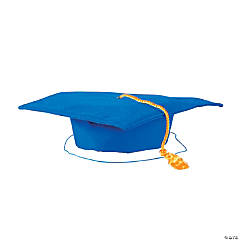 Kids' Blue Matte Elementary School Graduation Mortarboard with Tassel
