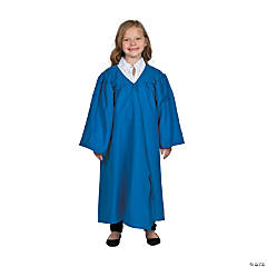 Kids' Blue Matte Elementary School Graduation Robe