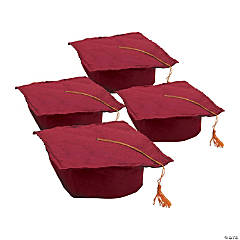 Kids' Burgundy Graduation Felt Mortarboard Hats