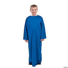 Kids' Dark Blue Nativity Gown - L/XL