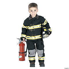 Kid's Firefighter Costume with Black Hat
