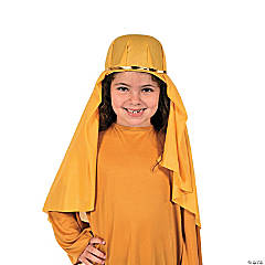 Kids' Goldenrod Nativity Hat