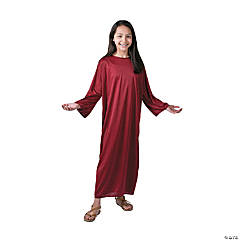 Kids' Large Maroon Nativity Gown