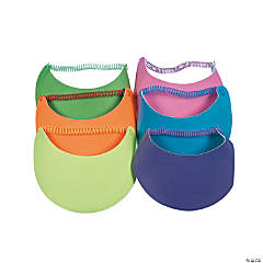 Kids' Neon Visors with Coil Band