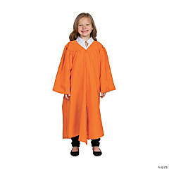 Kids' Orange Matte Elementary School Graduation Robe