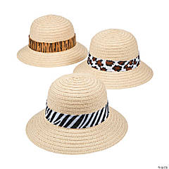 Kids' Pith Helmets with Animal Print Band