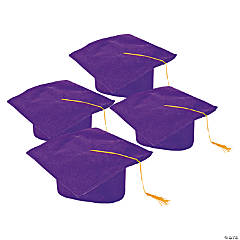 Kids' Purple Graduation Felt Mortarboard Hats