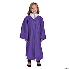 Kids' Purple Matte Elementary School Graduation Robe