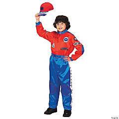 Kid's Red & Blue Racing Suit Costume