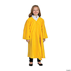 Kids' Yellow Matte Elementary School Graduation Robe