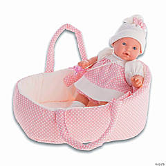 Kika Baby Doll with Portable Bassinet