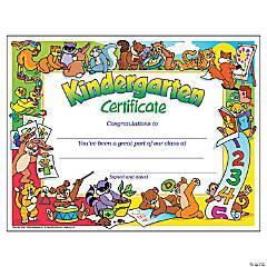 Kindergarten Certificate - 30 per pack, 6 packs