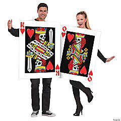 King and Queen of Hearts Couple's Costume for Adults
