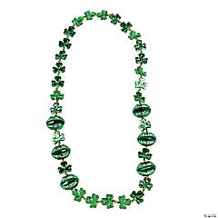 """Kiss Me I'm Irish"" Lip-Shaped St. Patrick's Day Beaded Necklace"