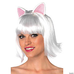 Kitty Bob Adult White Wig