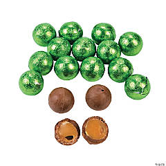 Kiwi Green Caramel Chocolate Balls
