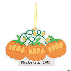 Knuckle Print Pumpkin Craft Kit