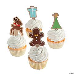 Kraft Paper Christmas Cupcake Decorations