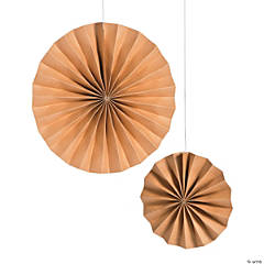 Kraft Paper Hanging Fan Set