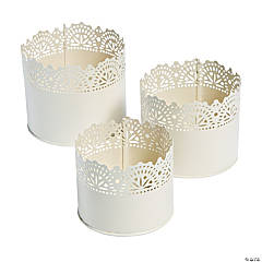 Lace Detail Planter Set