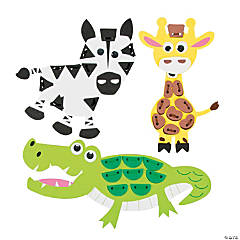 Lacing Safari Animals Craft Kit