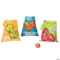 Laminated Large Dinosaur Tote Bags