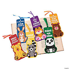 Laminated Paws for Good Character Bookmarks