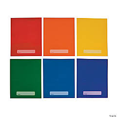 Laminated Rainbow Pocket Folders