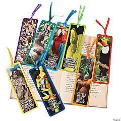 Laminated Rainforest Animal Bookmarks