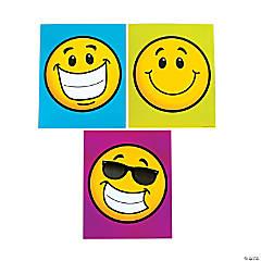 Laminated Smile Face Pocket Folders
