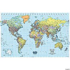 Laminated World Map, 50