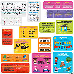 Language Arts Reference Stickers Set - 1st Grade