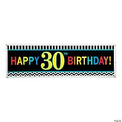 Large 30th Celebration Plastic Banner