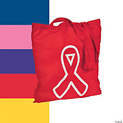 Large Awareness Ribbon Totes