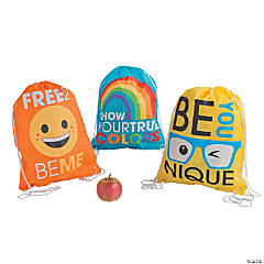 Large Be You Drawstring Bags
