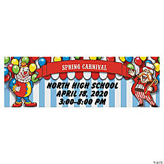 Large Big Top Personalized Banner