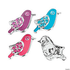 Large Bird Snap Beads - 22mm