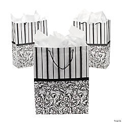 Large Black & White Wedding Gift Bags