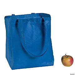 Large Blue Shopper Tote Bags