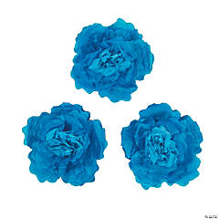 Large Blue Tissue Flower Decorations