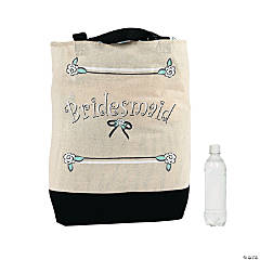 Large Bridesmaid Canvas Tote Bags