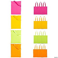 Large Bright Color Canvas Tote Bags
