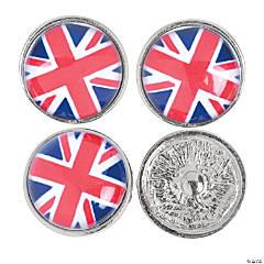 Large British Flag Snap Beads - 22mm