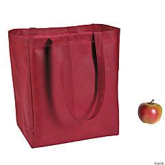 Large Burgundy Shopper Tote Bags